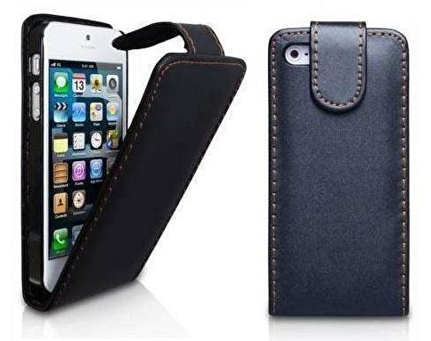 Microsonic iPhone  5 & 5S Flip Leather Deri Kılıf Renkli